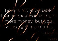 Time Is More Valuable Than Money You Can Get More Money - Time Quote
