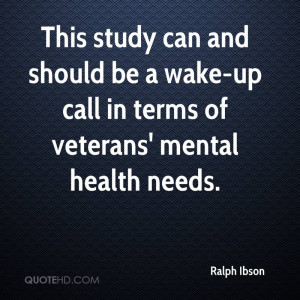 This study can and should be a wake-up call in terms of veterans ...