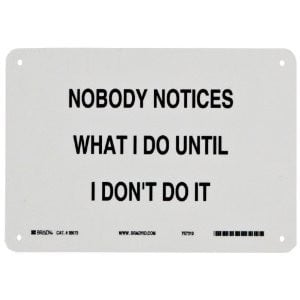 Black On White Color Funny Sign BUY NOW