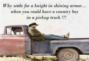 country boy in a pick up truck :)