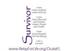 Relay for Life - Survivor/Caregiver Ideas