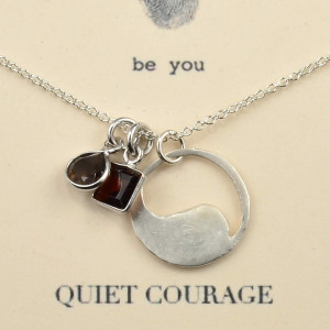 inspirational quote necklaces quiet courage natural stones quote on ...