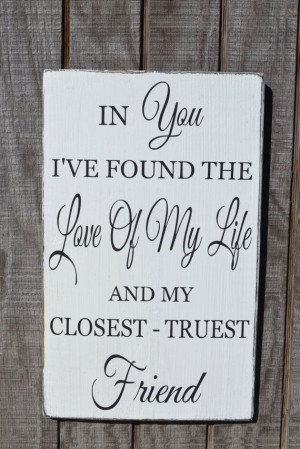 Quote Wedding Sign Couples Gift Love Story Happily Ever After Best ...