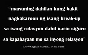 Break Up Quotes Tagalog