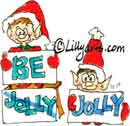 christmas elves being cute funny saying be jolly christmas elf