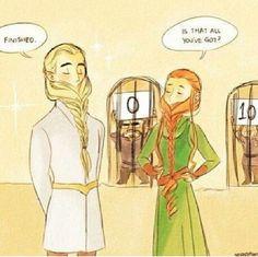 legolas and tauriel braid beard contest hobbit funny more hey legolas ...