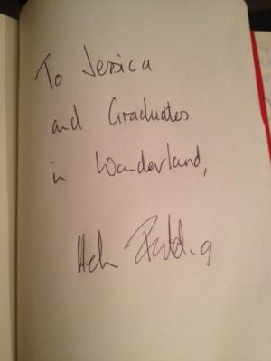 Helen Fielding s autograph