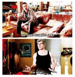 New Girl Douche Bag Jar Quotes | just love Schmidt and Nick! Douchebag ...