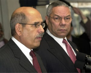 Powell with Mohamed ElBaradei, January 10, 2003