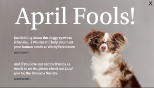 Just Kidding About the Doggy Eyewear ~ April Fool Quote