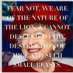 Queen Elizabeth Quote Canvas Art Print