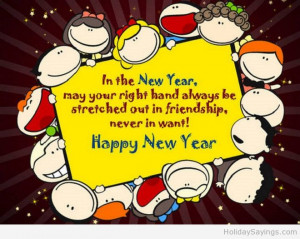 Funny happy new year cartoon