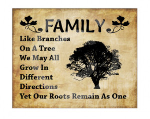 , Primitive, Country, Family Like Branches On A Tree, Printable Quote ...