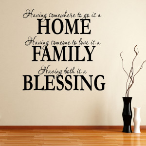 ... about Home Family Blessings Quote Wall Sticker Wall Decal Wall Writing