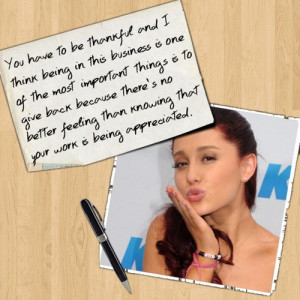 Ariana Grande Victorious Quotes