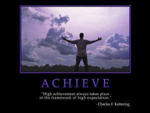 Motivational wallpaper on High Achievement : High achievement always ...