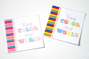 Simple & Fun Colored Pencil Teacher Gift