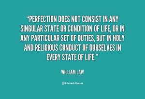 ... Of Life Or In Any Particular Set Of Duties - Perfection Quote