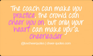 Cheerleading Coaches Quotes