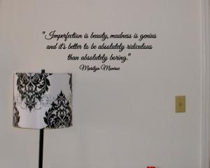 Marilyn Monroe Quote Vinyl Wall Decal Beneath The Makeup Vinyl ...