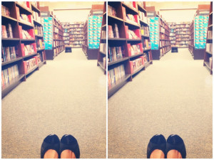 this is one of my favorite little spots in a book store down the ...