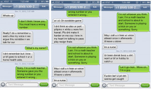 Someone keeps texting me even though I tell them it's a wrong number ...