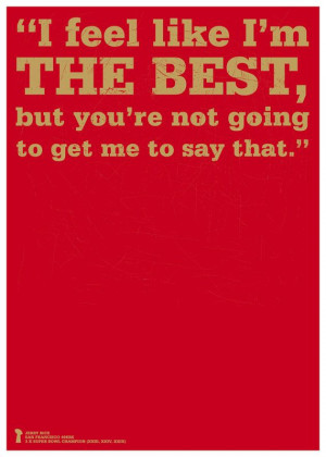 San Francisco 49ers Jerry Rice Quote Poster by headfuzzbygrimboid, $15 ...