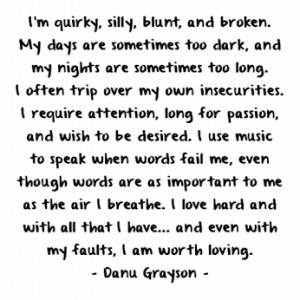 Even With My Faults, I Am Worth loving.