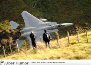 F15 flyby in a valley at the lake district