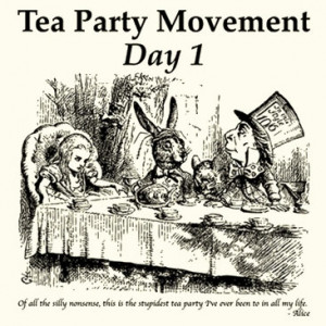 Tea Party Movement Day 1 Alice In Wonderland T Shirt