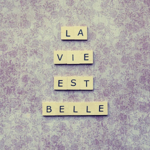 Scrabble French quote - La vie est belle - life's beautiful - wall art ...