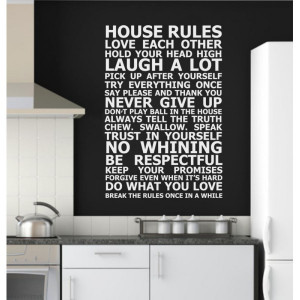 House Rules Paragraph Wall Quote