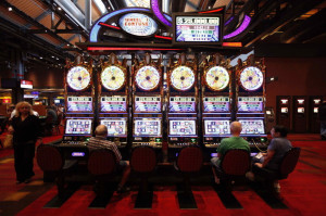 LAS VEGAS - NOVEMBER 08: Interior casino and slot machines on November