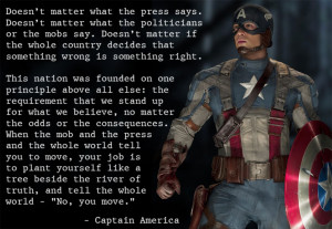 quote: Dosen't matter - captain america