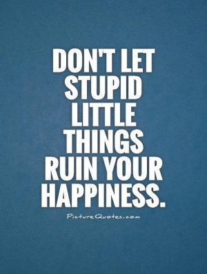 Happiness Quotes Stupid Quotes Little Things Quotes