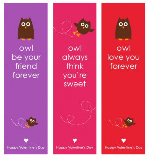 Owl Valentine's Day Bookmarks - Free Printable Design by Amy Locurto ...
