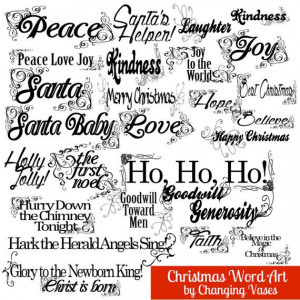 christmas word art collection 29 quotes words by changingvases $ 5 00