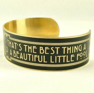 Scott Fitzgerald Quote - Beautiful Little Fool - Art Deco Style ...