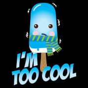 Funny too cool slogan cute vintage ice cream character with hat and ...