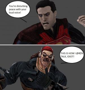 Injustice: Regime Superman vs Mr. Torgue by xXTrettaXx