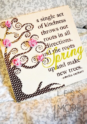this quote and polka dot tree, which are easily Mod Podged to a canvas ...