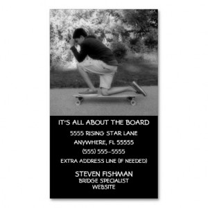 Longboard Quotes Double-Sided Standard Business Cards (Pack Of 100)