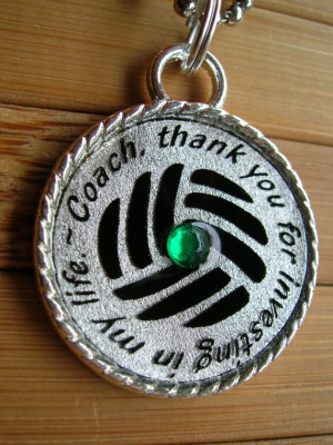 Volleyball Coach pendant ...thank you for investing in my life...thank ...