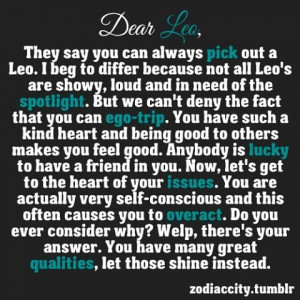 Dear Leo Zodiac City dear leo.