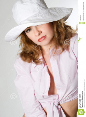 Woman Wearing Raincoat And...