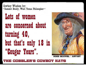 of women are concerned about turning 40, but that's only 18 in 'Cougar ...