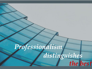 Professionalism - Whose job is it anyway?