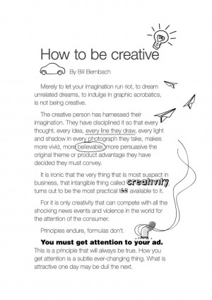 Bill Bernbach quote How to be Creative #bernbach #c5fl #category5ive ...