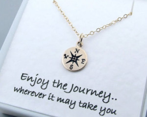 ... , Graduation g ift, Enjoy the Journey, Travel jewelry, Good Luck