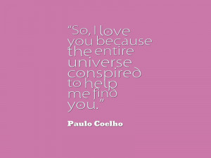 Paulo Coelho Quotes About Love